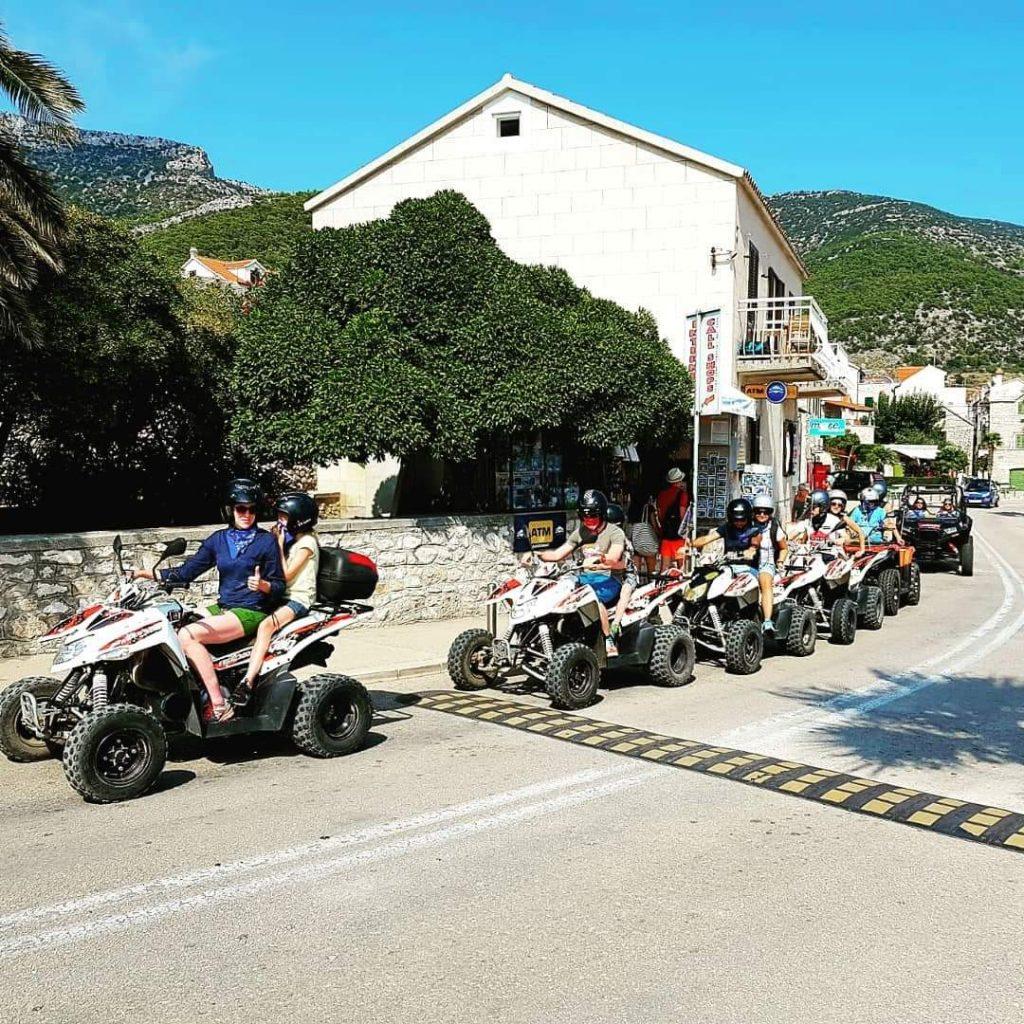 quad tour island Brac, island tour Milna, quad hire island Brac