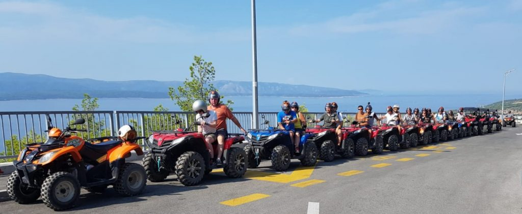 quad off road excursion at island Brac, active vacation on island Brac, tour de brac on quad
