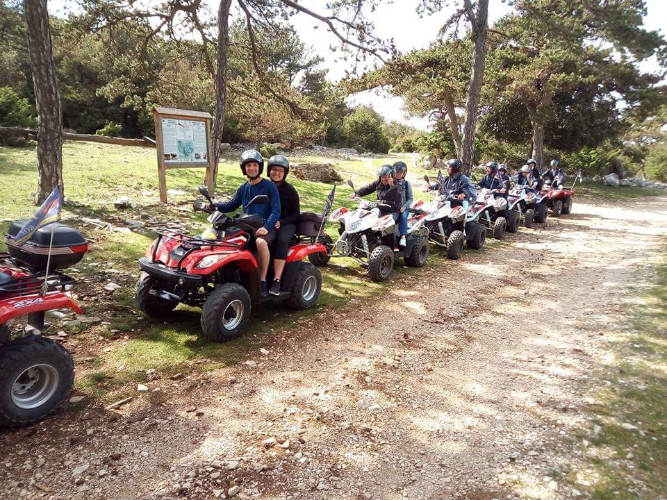 off road quad ATV excursion brac, family activity island Brac