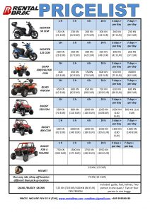 rent a scooter in island brac, quad, buggy,